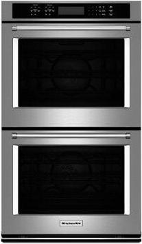 """KitchenAid(R) 27"""" Double Wall Oven with Even-Heat True Convection - Stainless Steel"""