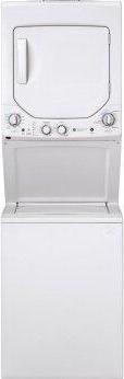 GE Unitized Spacemaker™ 2.3 cu. ft. Capacity Washer with Stainless Steel Basket and 4.4 cu. ft. Capacity Electric Dryer