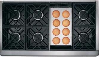 """Café 48"""" Commercial-Style Gas Rangetop with 6 Burners and Griddle (Natural Gas)"""