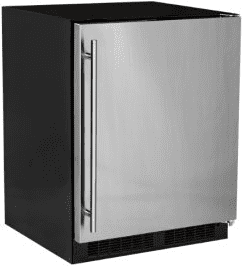 24-In Low Profile Built-In High-Capacity Refrigerator with Door Style - Stainless Steel