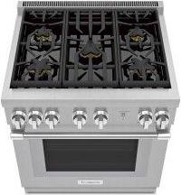 Gas Professional Range 30'' Pro Harmony™ Standard Depth Stainless Steel PRG305WH