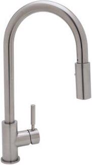 Stainless Steel Modern Architectural Side Lever Stainless Steel Pull-Down Kitchen Faucet