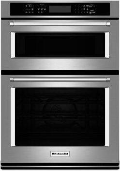 """KitchenAid(R) 30"""" Combination Wall Oven with Even-Heat True Convection (Lower Oven) - Stainless Steel"""