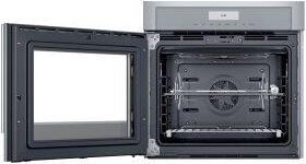 Single Wall Oven 30'' Left Side Opening Door, Stainless Steel MED301LWS