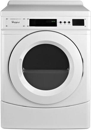 """27"""" Commercial Electric Front-Load Dryer, Non-Vend White"""
