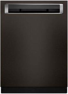 KitchenAid(R) 46 DBA Dishwasher with Third Level Rack and PrintShield(TM) Finish, Pocket Handle - Black Stainless