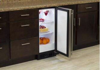 "15"" All Refrigerator (Marvel) - Solid Stainless Steel Door, Right Hinge"