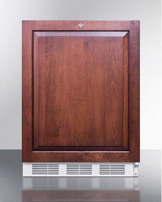 ADA Compliant Commercial All-refrigerator for Built-in General Purpose Use, Auto Defrost W/lock, Integrated Door Frame for Overlay Panels, and White Cabinet