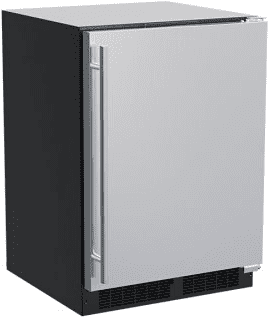 24-In Built-In High-Capacity Refrigerator with Door Style - Stainless Steel
