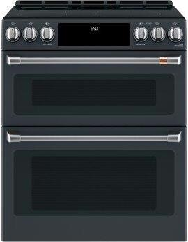 """Café™ 30"""" Smart Slide-In, Front-Control, Induction and Convection Double-Oven Range"""