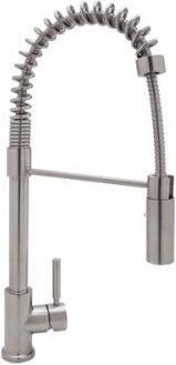 Stainless Steel Modern Architectural Side Lever Stainless Steel Pro Pull-Down Kitchen Faucet