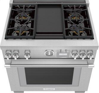 Gas Professional Range 36'' Pro Grand™ Commercial Depth Stainless Steel PRG364WDG