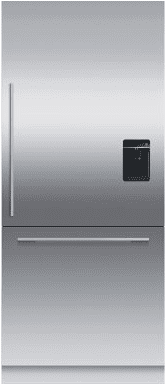 "Integrated Refrigerator Freezer, 36"", Ice & Water"